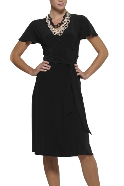 1joy wrap dress  black  brand hero