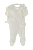 Three Piece Growsuit Hat & Bib Set