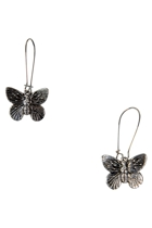 Butterfly Long Drop Earrings