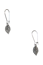 Leaf Long Drop Earrings