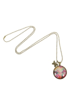 Frangipani In Bloom Pendant W Sml Butterfly Charm