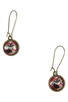 Chevron In Graffiti Drop Earrings