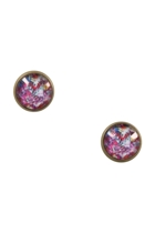 Rose In Graffiti Stud Earrings
