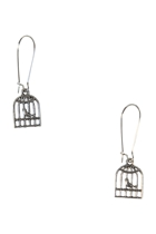 Birdcage Long Drop Earrings