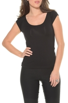 Cap sleeve tee  scoop neck  small2