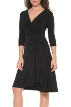 Reverse wrap dress  v neck side  small2