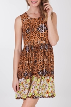 Mink Pink Break Away Scorpio Rising Dress