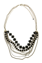Adorne Crystal Ball & Chain Mix Necklace