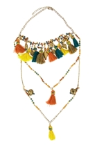 Zoda Tassel Layered Necklace