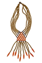 Maasi Wooden Fringed Necklace