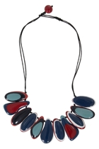 Silican Oyster Fringe Necklace