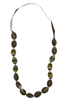 Maasi Pod Striped Necklace