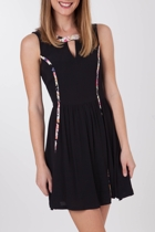 Mink Pink Dark Romance Waisted Dress