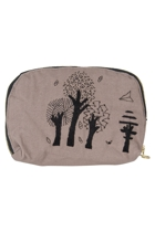 Eco Cotton Oval Tree Cosmetic Bag