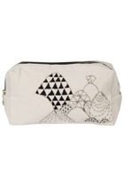 Eco Cotton Emb Mountain Cosmetic Bag
