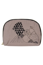 Eco Cotton Oval Mountain Cosmetic Bag