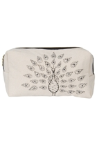 Eco Cotton Emb Peacock Cosmetic Bag