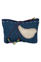 Eco Applique Hemp Dove Make Up Purse