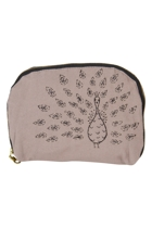 Eco Cotton Oval Peacock Cosmetic Bag