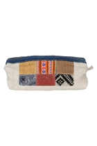 Eco Hemp Patchwork Cosmetic Bag