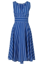 MAGGIE Wrap Dress Zig Zag Ikat