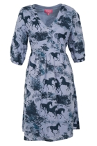 POLLY Waist Tie Dress Horse Tree