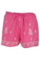 Hand Embroidered Sleep Shorts