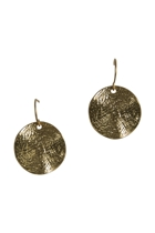 Wavey Disc Earrings