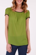 Esprit Collection Drapy Chiffon Crew Neck Blouse