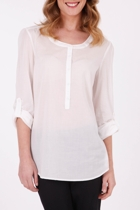Esprit Tunic L/S Blouse W Turn Up