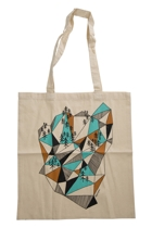 Geometric Mountain Tote