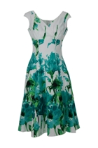 Empire Aqua Poppy Dress
