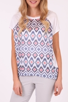 Vigorella Print Spliced Shell Top
