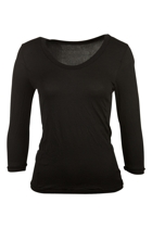 Vigorella 3/4 Slv Scoop Neck Top