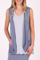 Nylon Vest with Mesh Trim