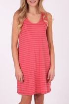 Cotton Mixed Stripe Dress W Ties