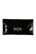 Adorne Gloss Buckle Envelope Clutch