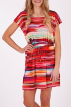 African Sunrise Drape Dress