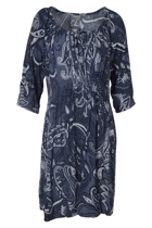 Elbow Sleeve Print Dress