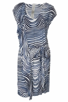 Ripple Wave Print Dress