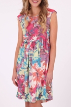 Sophia Silk  Sunset Print Dress