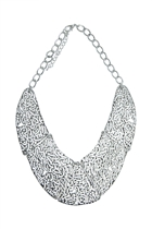 Filigree Curved Plate Necklace