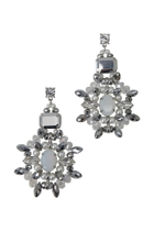 Adorne Jewelled Crystal Sun Earrings