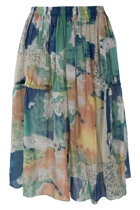 Gelato Print Gathered Skirt