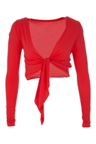Basic Tie L/S Wrap Top