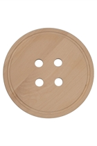 Button Wooden Trivet