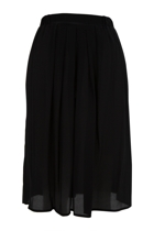 Silk Pleated Skirt