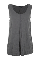 Plain Crush Buttoned Singlet