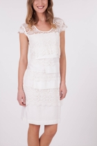 Gitane Nigella Lace Insert Layer Shift Dress