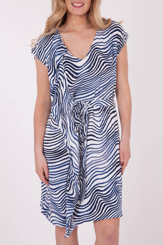 Hammock & Vine Ripple Wave Print Dress